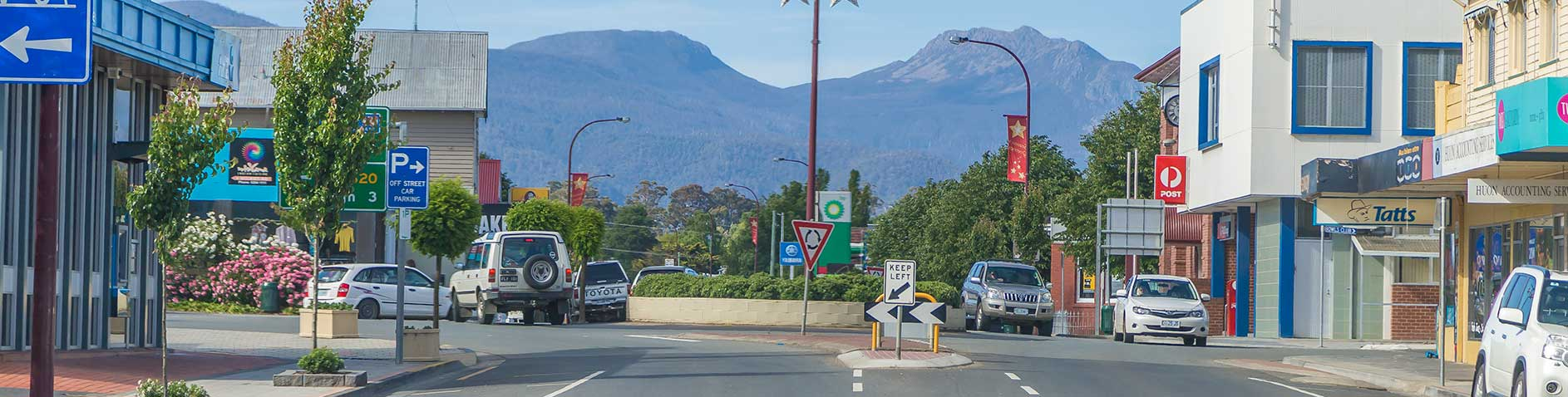 image of main street Huonville